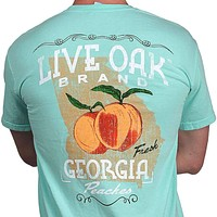 Georgia Peaches Short Sleeve Pocket Tee in Island Reef by Live Oak