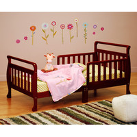 AFG Anna Sleigh Toddler Bed with Safety Rails - 7008