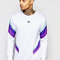 Hype   Hype Long Sleeve T-Shirt With Retro Print Panels at ASOS