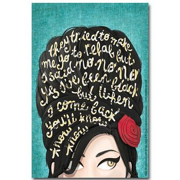 New Amy Winehouse Music Singer Star Silk Art Poster Wall Sticker Decoration Gift|Painting & Calligraphy
