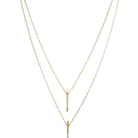 Jules Smith | Pave Solid Vertical Bar Necklace