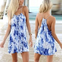 ZANZEA S-XXXL New Women Ladies Casual Summer Sleeveless Party Beach Mini Dress Sundress = 5657641473