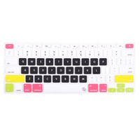 """Case Star candy series rainbow black Keyboard Silicone Cover Skin for newest 13"""" 15"""" RETINA MacBook Pro Aluminum Unibody (Black keys, withOUT DVD rom, 13.3 .15.4-inch diagonal screen with Case Star velvet Bag"""