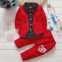 Cute Boys Jacket, Shirt and Pants Sets Choice of Colors and Styles