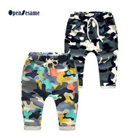 2016 Retail toddlers baby boy pants kids harem pants camouflage harem pants kids 100% cotton warm boys&girls trousers for 2-7 yr