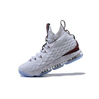 Nike LeBron James Fashion Men Running Sport Casual Shoes Sneakers White Wine Red I-CSXY