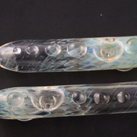 5.5 Assorted Decorated Glass Steam Roller