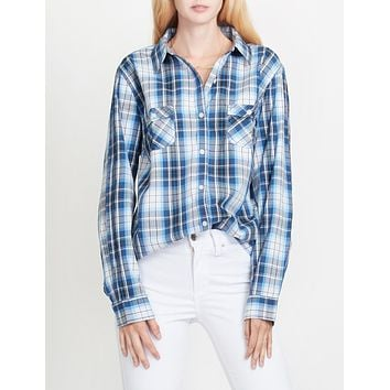 PREMIUM Lightweight Soft Cotton Long Sleeve Plaid Western Shirt (CLEARANCE)
