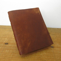 Leather Pocket Notebook/Leather Journal -  Hand Stitched, the Pascale
