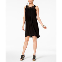 Style & Co  Lace-Trim High-Low Dress, Various Sizes