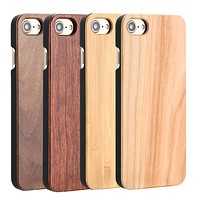 Real Wood Case For iphone 7 6 6S Plus 5 5S