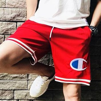 Champion New fashion embroidery logo and letter print shorts Red