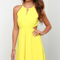 Happy Heart Yellow Dress