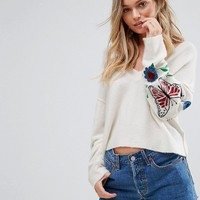 Wildfox Wildlife Beaded Embroidery Jumper at asos.com