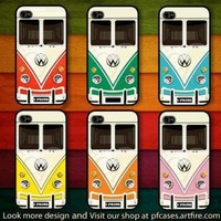 CHOOSE YOUR FAVORITE COLOR OF VW MINIBUS CASE FOR IPHONE 44S5 by pfcases12 on Zibbet