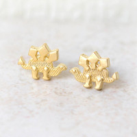Dinosaur earrings Stegosaurus  / choose your color / gold and silver