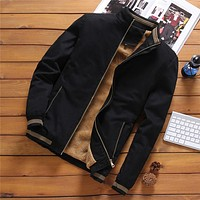 Fleece Jackets Mens Pilot Bomber Jacket Warm Male Fashion Baseball Hip Hop Coats Slim Fit Coat  Clothing