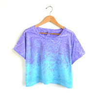Splash Dyed Hand PAINTED Slouchy Scoop Neck by twostringjane