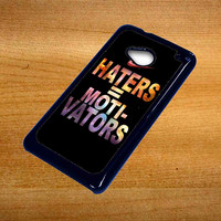 Nike Haters Motivation Custom For Htc One M7 Case *76*
