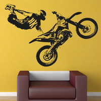 Vinyl Wall Decal Sticker Motocross Jump Trick X-Games #OS_AA195
