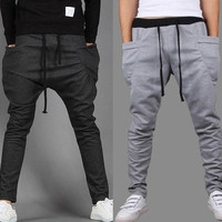 Outdoors Saroul roupas Hombre Calca Masculinas Pantalones Baggy Pants Trousers Drop Crotch Sport Hip Hop Harem Joggers Jogging [9221652548]