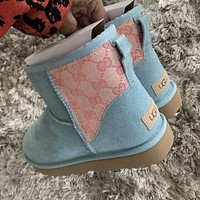 UGG GUCCI GG new product stitching color letter embroidery men and women snow boots Shoes