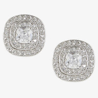CUBIC ZIRCONIA SQUARE STUD EARRINGS from EXPRESS