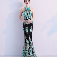 Turquoise Blue Sexy Mermaid Prom Dress