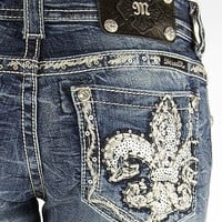 Miss Me Sequin Stretch Cropped Jean - Women's Crops | Buckle