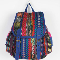 Ecote Patterned Collage Backpack