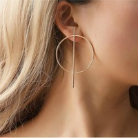 Crossed Hoop Earrings