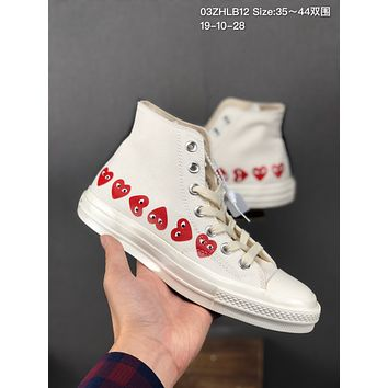 CDG Play x Converse 1970s cheap mens and womens Fashion Canvas Flats Sneakers Sport Shoes