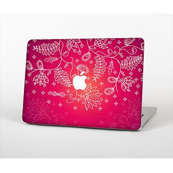 The Glowing Pink & White Lace Skin Set for the Apple MacBook Air 13""