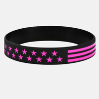 Tactical Black and Pink Wristband