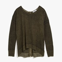 Washed Out Zip Back Sweater