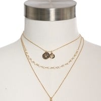 Dylan Skye Layered Charm & Chain Necklace