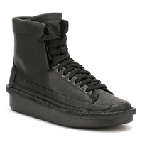 Clarks Mens Black Leather Oswyn Hi Shoes