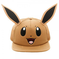 Pokemon Eevee Big Face Mesh Trucker Snapback w/ Ears