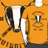 Hufflepuff Quidditch Athletic Tee Harry Potter Shirt T-Shirts  Hoodies by spacemonkeydr | RedBubble
