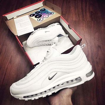 Tagre™ NIKE AIR MAX 97 Trending Women Men Casual Sports Running Shoes Couple Shoes White I