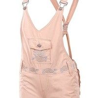Casual Floral Embroidered Overall