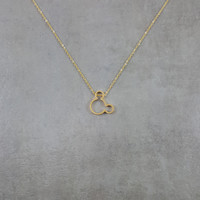 Mickey Mouse Gold Necklace