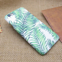 Summer forest green leaves mobile phone case for iphone 5 5s SE 6 6s 6 plus 6s plus + Nice gift box 072301