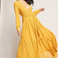 Chiffon Surplice Maxi Dress