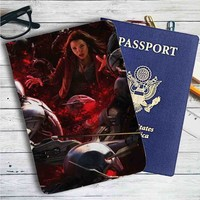 Scarlet Witch The Avengers Age of Ultron Leather Passport Wallet Case Cover