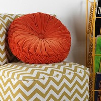Round Pintuck Pillow   Urban Outfitters