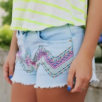 Beaded Beauty Shorts
