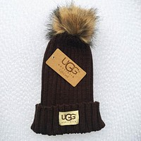 UGG Fashion Men And Women Knitted Cap Coffee