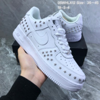 DCCK2 N826 Nike Air Force 1 Stars Pack Leather Rivet Low Casual Skate Shoes White