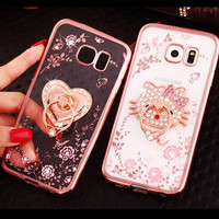 Luxury Rhinestone cover case For Samsung Galaxy S7 S6 edge Plus S5 S4 S3 Note5 Note4 Note3 J510 J710 A510 A710 A8 A9 cases shell